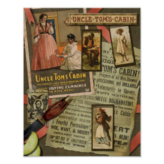 Poster de la cabina de tío Tom del vintage -