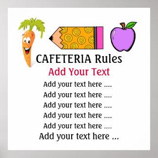 Poster de la cafetería de la escuela - SRF