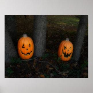 Poster de la calabaza de Halloween