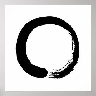 Poster de la caligrafía del zen del círculo de