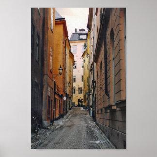 Poster de la calle de Estocolmo