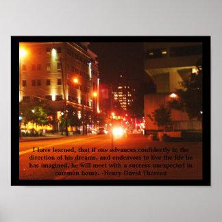 Poster de la calle de la ciudad
