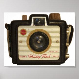 Poster de la cámara del brownie de la escuela viej
