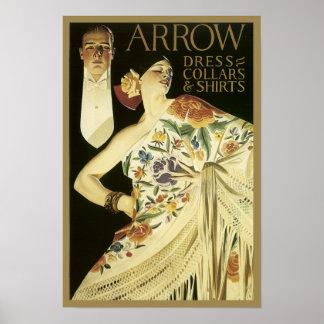 Poster de la camisa de la flecha del vintage