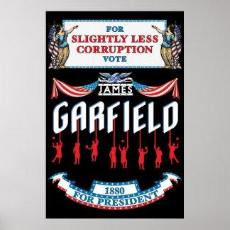 Poster de la campaña de James Garfield 1880