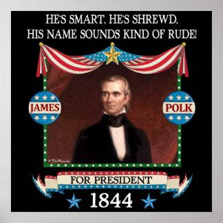 Poster de la campaña de James Polk Póster