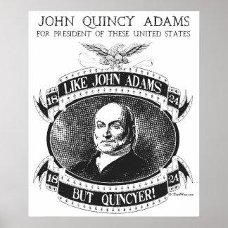 Poster de la campaña de John Quincy Adams 1824 Póster