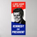 Poster de la campaña de Kennedy