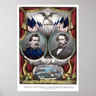 Poster de la campaña de McClellan y de Pendleton