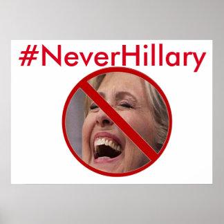 Poster de la campaña del #NEVERHILLARY