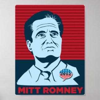 Poster de la campaña presidencial de Mitt Romney 2