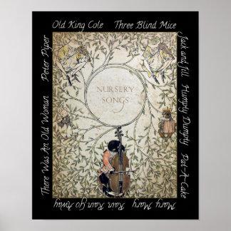 Poster de la canción del cuarto de niños