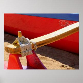 Poster de la canoa de soporte