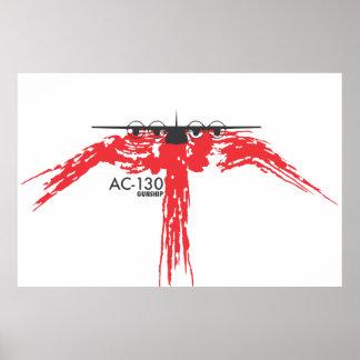 Poster de la cañonera AC-130