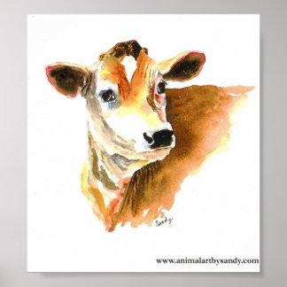 poster de la cara de la vaca