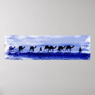 Poster de la caravana del camello póster