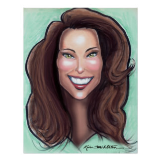 Poster de la caricatura de Kate Middleton