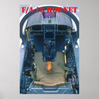 Poster de la carlinga F/A-18