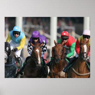 Poster de la carrera de caballos