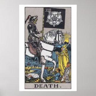 Poster de la carta de tarot de la muerte