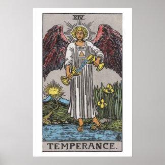 Poster de la carta de tarot de la templanza
