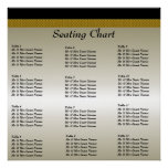 Poster de la carta del asiento de la recepción nup