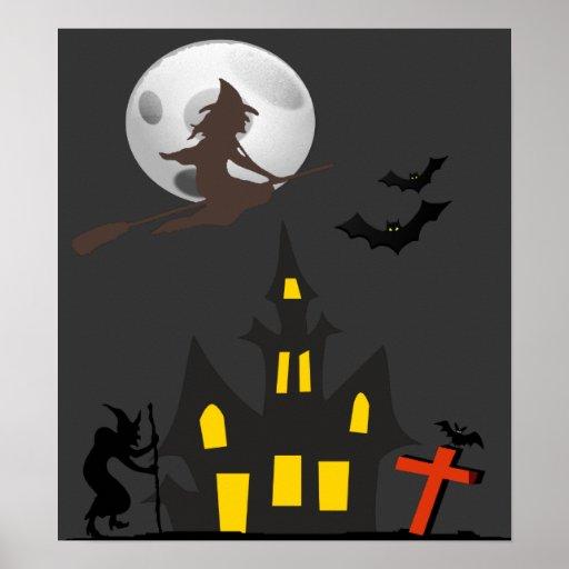 Poster de la casa encantada de Halloween