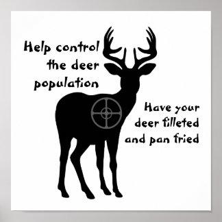Poster de la caza de los ciervos póster