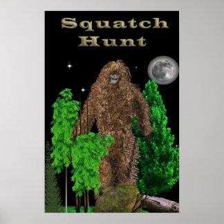 Poster de la caza de Sasquatch
