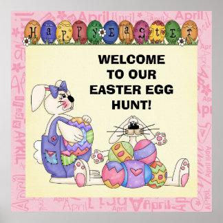 Poster de la caza del huevo de Pascua