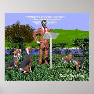 Poster de la caza del verraco