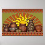 Poster de la cerámica del sudoeste