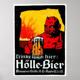 Poster de la cerveza de 1905 alemanes