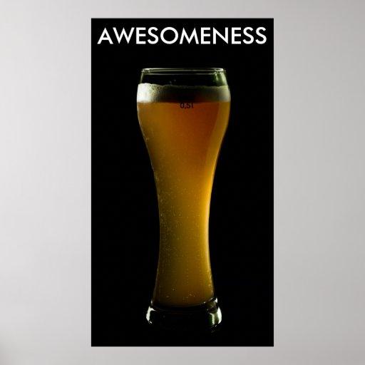 Poster de la cerveza de AWESOMENESS