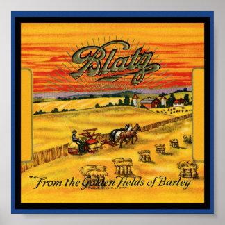 Poster de la cerveza de Blatz