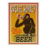 poster de la cerveza del mono de grasa