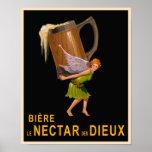 Poster de la cerveza del vintage