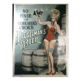 Poster de la cerveza del vintage, no más fino los tarjeta postal