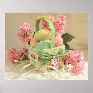 Poster de la cesta de los huevos de Pascua