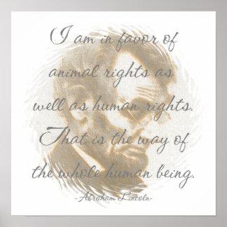 Poster de la cita de Abraham Lincoln