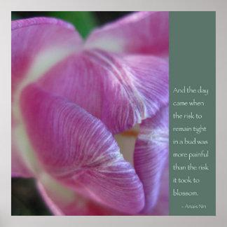 Poster de la cita de Anais Nin