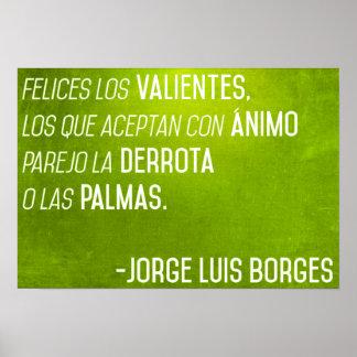 Poster de la cita de Borges