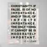 "Poster de la cita de C.S. Lewis - ""cristianismo… """