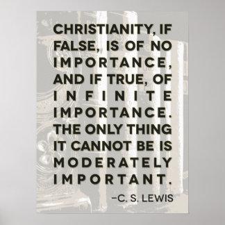 Poster de la cita de C S Lewis - cristianismo…