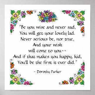 Poster de la cita de Dorothy Parker por SRF