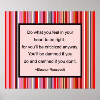 Poster de la cita de Eleanor Roosevelt Póster