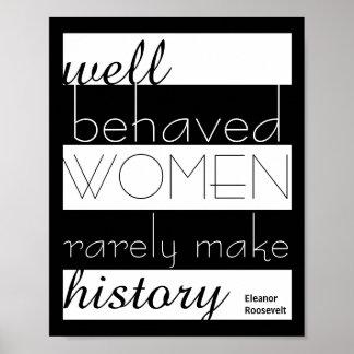 Poster de la cita de Eleanor Roosevelt sobre