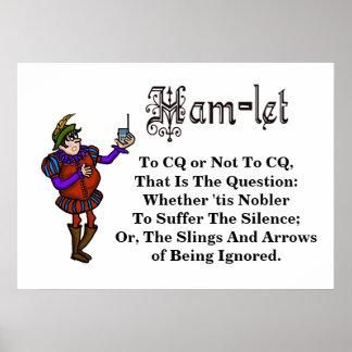 Poster de la cita de Hamlet del equipo de