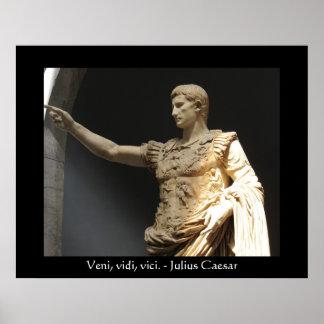 POSTER de la cita de Julio César