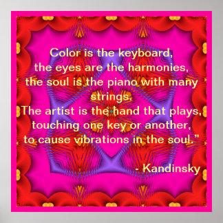 Poster de la cita de Kandinsky